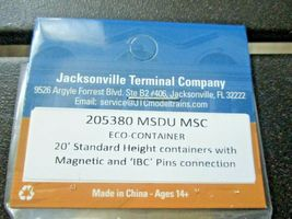 Jacksonville Terminal Company # 205380 MSDU MSC 20' ECO-CONTAINER N-Scale image 4