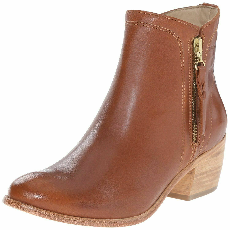 "NEW 1883 by Wolverine Womens Ella Brown Tan Leather 5"" Side Zip Ankle Bootie NIB"