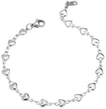 U7 Stainless Steel Heart Chain Bracelet For Women - $26.64