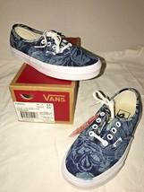 Vans Unisex Authentic Indigo Tropical Skate Shoes Blue True White Women ... - $29.56