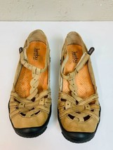 Jambu Air Vent 360 Xterra Beige Leather T Strap Comfort Walking Sandal S... - $23.33