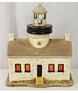 """1993 Geo Z Lefton Old Point Loma Lighthouse Large Illuminated 8"""" High 7""""... - $15.00"""