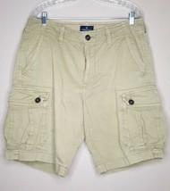 American Eagle Cargo Shorts Men's Size 34 Khaki Classic Fit - $16.07
