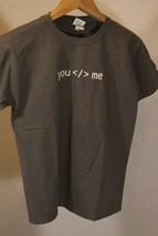 Youth M Graphic T-Shirt Short Sleeve Atlassian Gray YOU < / > ME - $5.93