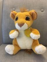 "1993 Authentic Disney Lion King Talking Baby Simba Cub Plush 12"" Leaf Co... - $29.69"