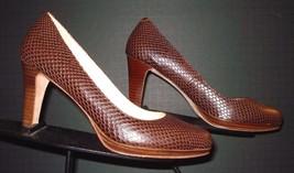 Women's Cole Haan Brown Faux-Lizard Leather Classic Pumps Sz. 6B MINTY! - $53.96