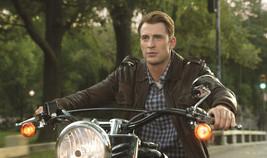 Captain America The Avenger Chris Evans Steve Rogers Leather Jacket Bike... - $69.29+