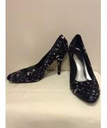 White House Black Market Women's Marco  Pumps Black Silver Sequins Size ... - $19.95