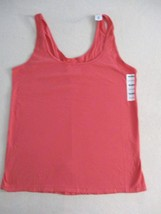 Old Navy Women Top XL Orange Solid Casual  Fitted Tank Cotton Spandex 18114 - $7.85