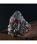 V.YA Vintage Thailand 925 Thai Silver Pendant Ring for Men Male S925 Ste... - $89.77