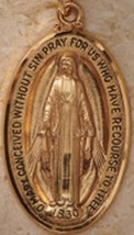 Miraculous Medal: Large Gold image 2