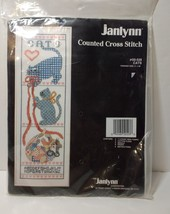 "Cats Cross Stitch Kit Janlynn Unopened ABC 11 Count Aida 9"" x 26"" - $9.74"