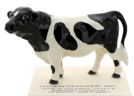 Hagen-Renaker Miniature Ceramic Cow Figurine Holstein Bull image 1