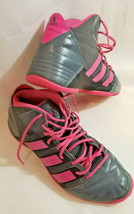 Adidas high top shoes hot pink leather 2012 size 10 ladies Roundhouse Mi... - $53.45