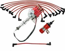 Ford SBF R2R Distributor 260 289 302 5.0L V8 8mm Spark Plug Wires 45K Volt Coil
