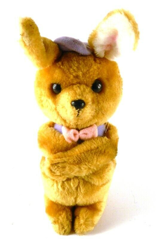 Dakin 1980 Vintage Bunny Rabbit Plush w/ Hook & Loop Hands 11.5in tall - $13.71