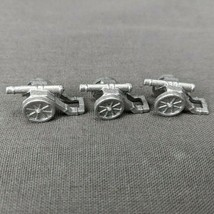 Risk 40th Anniversary Edition Board Game Metal Cannons 3 Pieces Silver Army - $6.85
