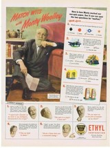 1945 MONTY WOOLLEY Ethyl Corporation War Quiz Pipes Print Ad  - $9.99