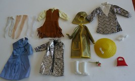 Vtg. Mego Maddie Mod Doll Barbie Clone Outfits SLICK CHIC , Dresses Boot... - $60.00