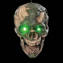 Animated Scary UNDEAD FRED SEVERED ZOMBIE HUMAN HEAD Halloween Horror Prop - $54.42