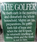 "The Golfer 8""x10"" Metal Street Sign  - $12.86"