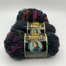 Lion Brand Boucle Lot Of 3  'Licorice' Color 214 - $12.95