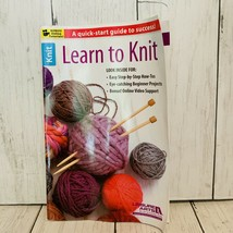 Boye Knitting Needles and Learn to Knit Book by Leisure Arts 2014 Paperback - $9.89