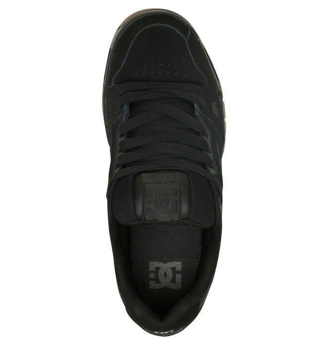 Mens DC Stag Skateboarding Shoes NIB Black Gum        (bgm) image 5