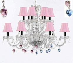 Murano Venetian Style All Empress Crystal (Tm) Chandelier! Blue and Pink Crystal - $307.71