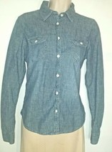 American Eagle Outfitters Womens Size M Denim Button Down Top Shirt  - $14.95