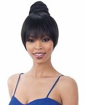 SWIRL BUN BANG 1B Off Black - Freetress Equal Synthetic Bun & China Bang - $11.46