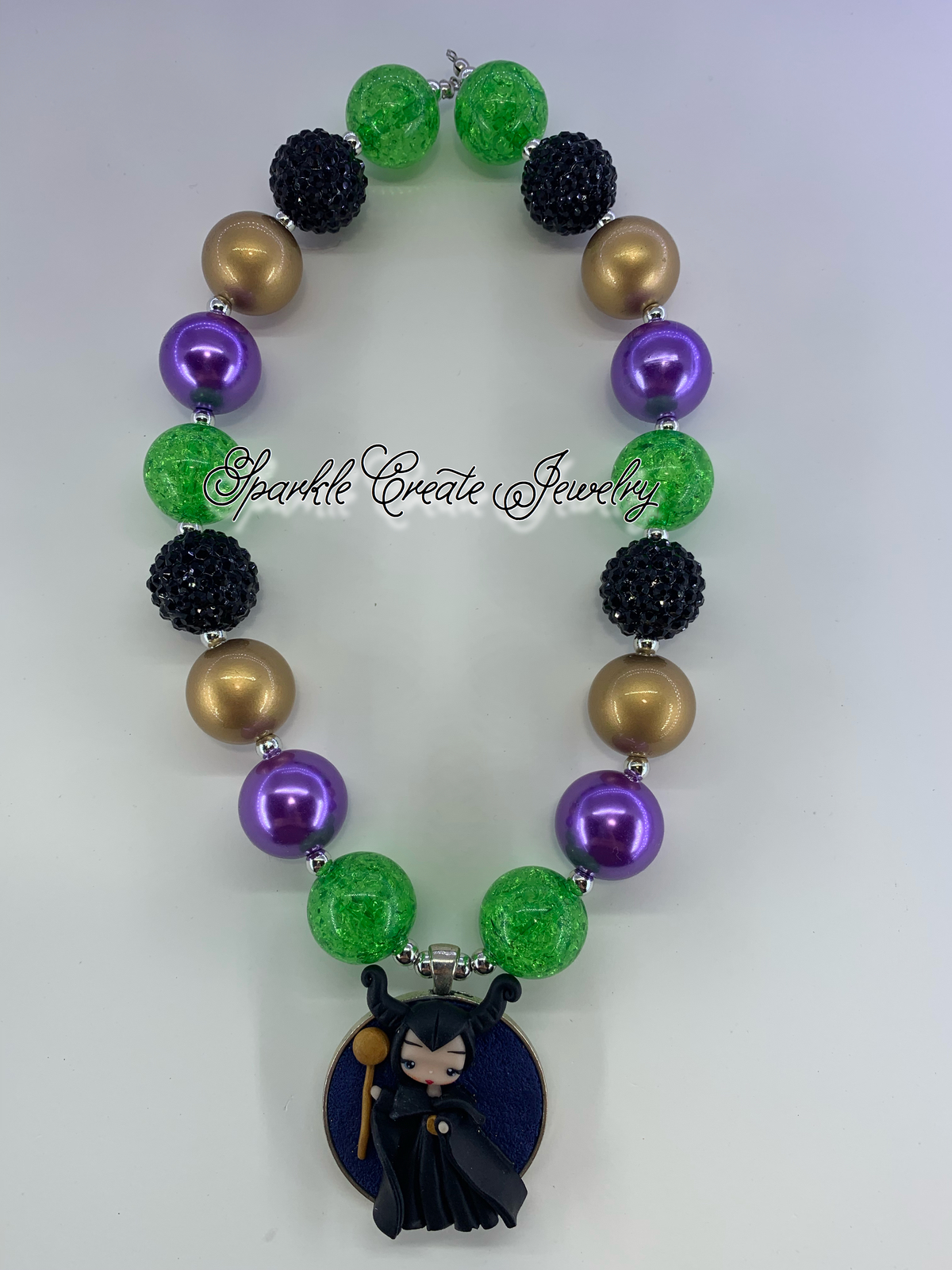 Maleficent Clay Chunky Bubblegum Necklace