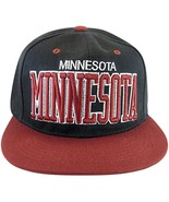 Minnesota Men's Snapback Baseball Cap (Black/Burgundy) - $11.95