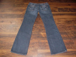 Women's Silver jeans size 32 x 37 Aiko Bootcut mid rise thick stitch den... - $47.49