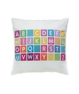 Decorative Throw Pillow, Colorful Alphabet Square Accent Throw Pillows F... - $29.99