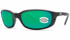 NEW Costa del Mar Brine BR 11 OGMGLP Matte Black Frame / Green Mirror 58... - $148.45