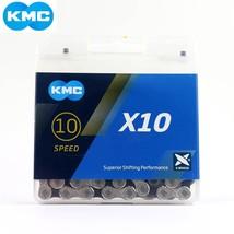 2019 NEW KMC X10 X10.93 MTB Road Bike Chain 10 20 30 Speed 116L 10 Speed Bicycle - $60.81