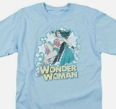 Wonder Woman T-shirt distressed DC comic book Batman superhero cotton tee DCO468 image 1