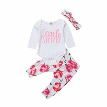 2018 New Cute Kid Baby Girl Clothes Floral Fall Sets Girls Little Sister - $11.89