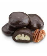 DARK CHOCOLATE PECANS, 2LBS - $34.50