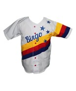 Bingo Long Traveling All Stars Movie Baseball Jersey Button Down White A... - $44.99+