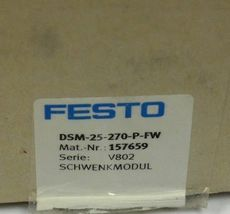 NEW FESTO DSM-25-270-P-FW SWIVEL MODULE 157659 DSM25270PFW image 3