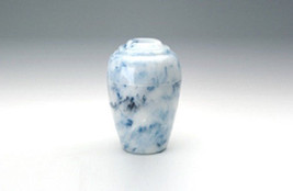 Small Grecian Onyx Sapphire Keepsake Funeral Cremation Urn, 35 C.I. TSA Approved - $119.99