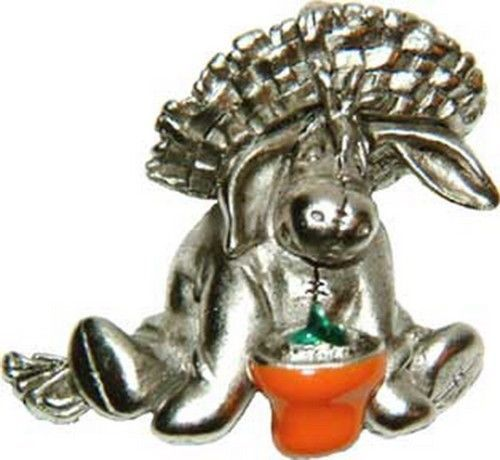Eeyore in Gardening Hat & Pot  authentic Winnie The Pooh Disney Broach on card