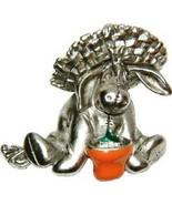 Eeyore in Gardening Hat & Pot  authentic Winnie The Pooh Disney Broach o... - $49.99