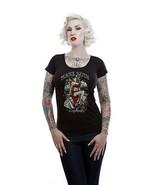 Femmes Lucky 13 pour Homme Ruine Dé Decolleté Punk Tatouage Gothique Che... - $25.21