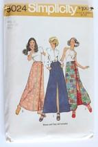 Simplicity 5024 Vintage 70s Maxi Skirt Sewing Pattern UNCUT Waist 28 Wra... - $7.00