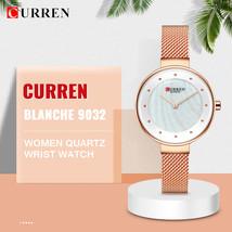 CURREN BLANCHE 9032 Women Quartz Watch Mesh Stainless Steel Band Fashion Wristwa - $27.24