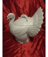 Stunning Fitz and Floyd 1989 Rare Turkey Tureen in White With Ladle - $7.033,37 MXN