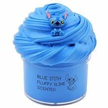 Happyforu 2019 Newest Blue Stitch Fluffy Slime,Super Soft and Non-Sticky7oz 200M